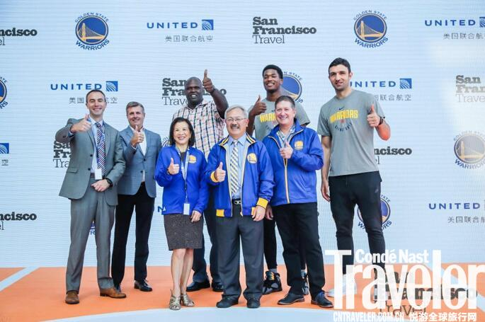 旧金山市长、NBA 2017总冠军金州勇士队现场共同推广旧金山旅游