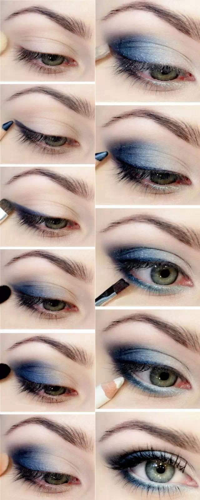 大小欧式眼妆的画法步骤~(附超多眼线的画法)