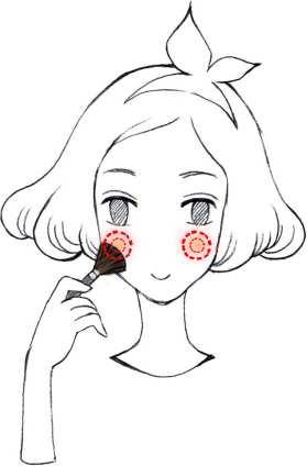 看手绘步骤图来学化妆,做自己的脸庞设计师