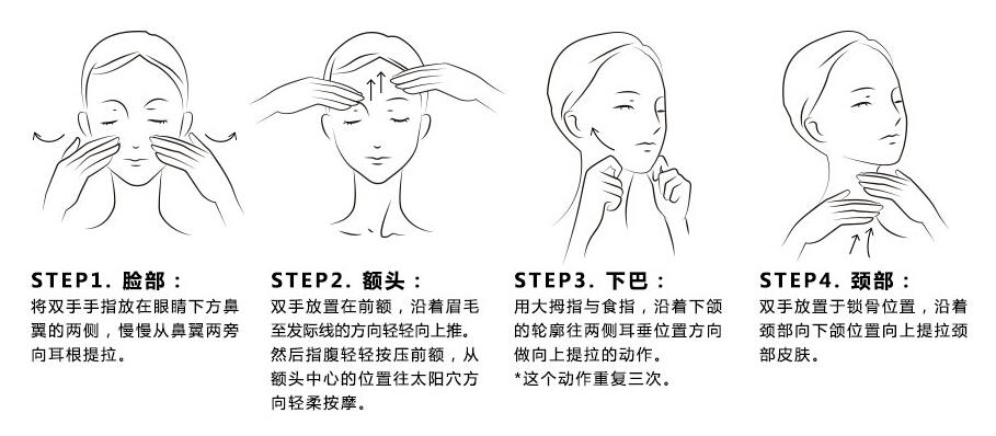 面膜使用步骤简笔