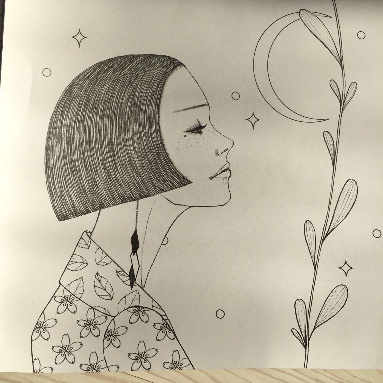 简笔画 手绘 线稿 1280