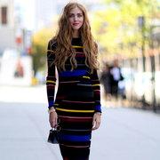 又美又温暖 34种秋天长裙穿起来