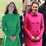 抛弃黑灰驼,凯特王妃集齐七色彩虹大衣冬日穿出精彩
