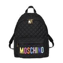 Moschino限量发布中国限定款 彩色Logo双肩背包