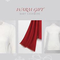 银色圣诞 绒装物语 1436小山羊绒陪你暖意度过