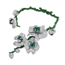 DIANA ZHANG首位跻身巴黎古董双年展的华人女珠宝设计师 全新得意之作「兰花女王」项链问世将生命注入作品