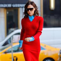 温暖又时髦的针织裙,怎么穿才能显高显瘦?-风格示范