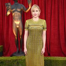 美国女演员格蕾塔·葛韦格(Greta Gerwig)出席第24届美国演员工会奖颁奖礼