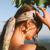 絲巾變發帶,輕松點亮夏日造型-美發