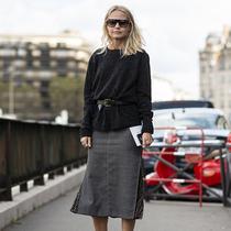 沒錢買新裝 給毛衣加根腰帶舊衣新穿-時尚街拍