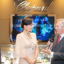 劉嘉玲佩戴Chopard蕭邦珠寶優雅亮相蕭邦香水上市-名人秀