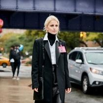 大衣羽绒服里面穿什么?一件黑色打底衫全搞定-衣Q进阶