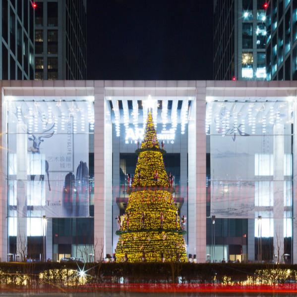 艺术唤醒城市 华灯点亮达美 ——达美艺术中心圣诞亮灯仪式照亮城市夜空
