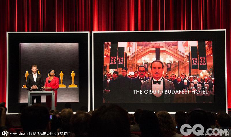 """《鸟人》与《布达佩斯大饭店》分别获得9项提名,刷屏领跑。""""卷福""""主演的《模仿游戏》与刚刚收获金球奖最佳影片的《少年时代》,分别以8项和6项提名紧随其后。"""
