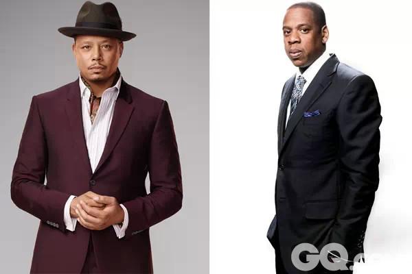 主人公Lucious Lyon(左)白手起家一路发展为唱片公司巨头的故事当然会令人想到Beyoncé老公Jay Z(右)的成名历程。