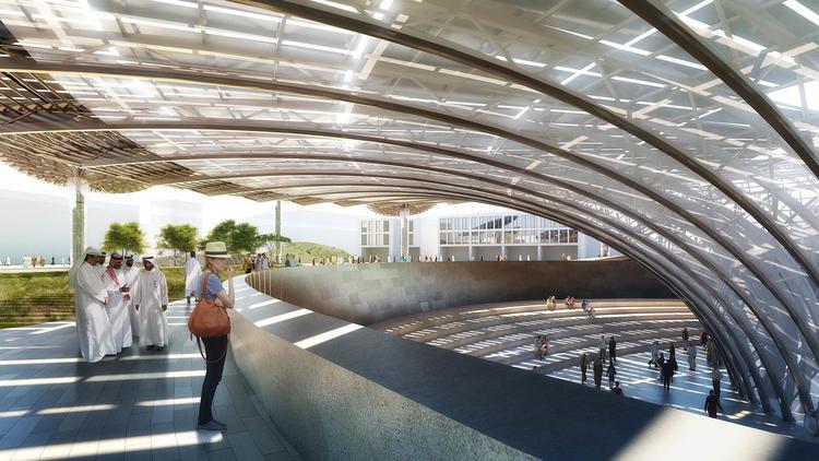 此前,Grimshaw Architects 曾在 2013 年参与修建韩国舒川郡的 Ecoplex 生态园。2001 年,他们还在英国康沃尔郡,完成了第一个伊甸园项目,建成了世界上最大的人工温室。我们在之前的一篇文章中曾对此做过报道,伊甸园项目累计吸引了 1600 万游客,给康沃尔郡带来了16 亿英镑收入和数千个就业岗位。