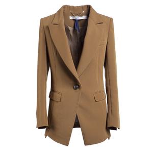 DAZZLE棕色修身西装