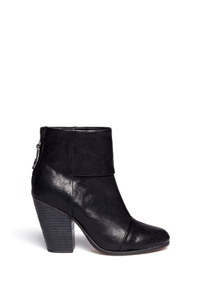 Classic Newbury leather ankle boots