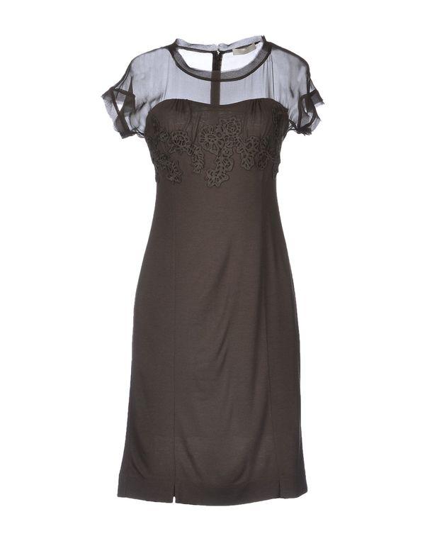 深棕色 SCERVINO STREET 短款连衣裙